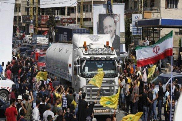 پنجمین کاروان حامل سوخت ایران از مرز سوریه به سمت لبنان عبور کرد