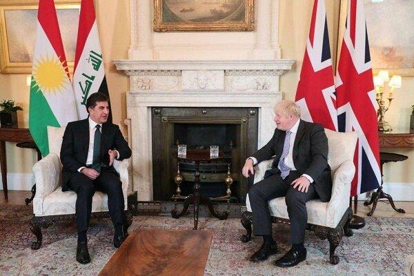 بارزانی با نخست وزیر انگلیس دیدار و گفتگو کرد