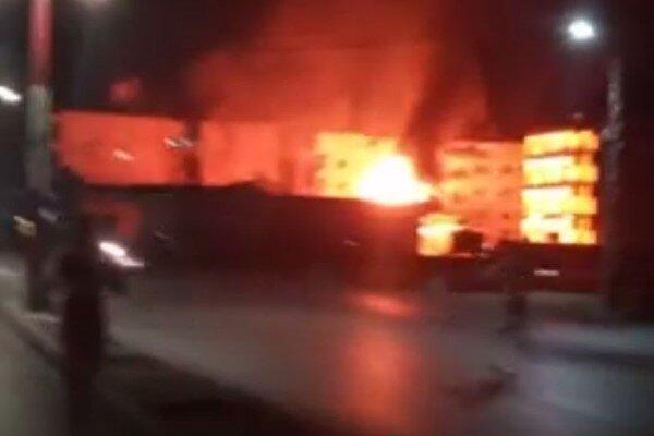 آتش سوزی در یکی از جایگاه های سوخت در بقاع لبنان
