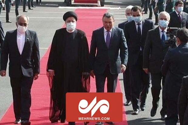 تاجیکستان میں صدر رئیسی کا سرکاری طور پر استقبال