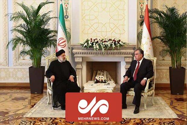 امضای اسناد همکاری توسط روسای جمهور ایران و تاجیکستان