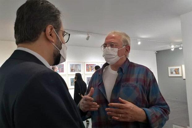 بازدید معاون هنری از نمایشگاه نقاشی جلال شباهنگی و احمد وکیلی