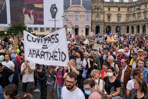 صدها تن از شهروندان معترض پاریس بار دیگر به خیابان ها آمدند