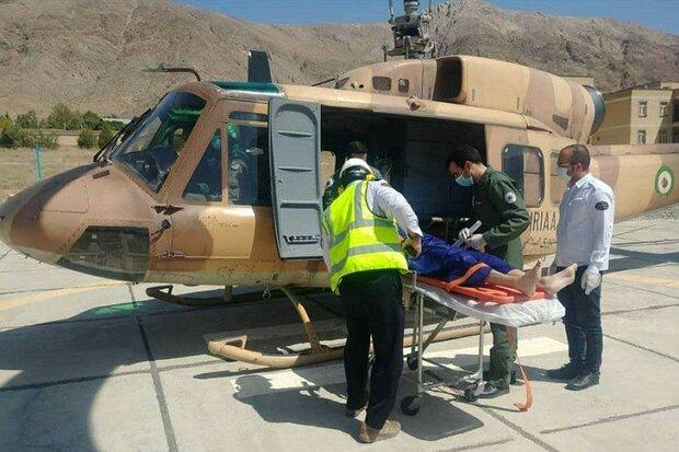 انجام ۲عملیات امدادرسانی نجاتبخش هوانیروز کرمانشاه در همدان