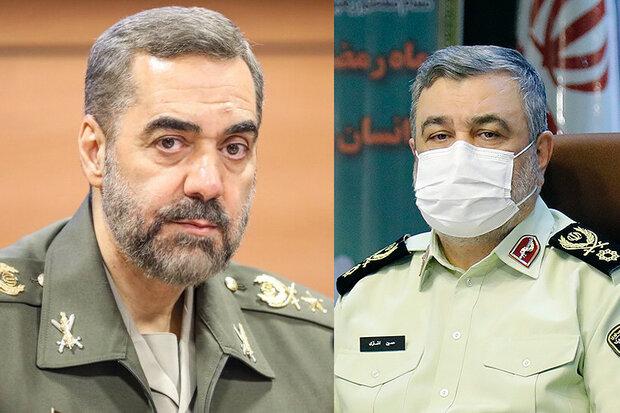 امنیت بالاتر از دفاع است/تاکید وزیر دفاع بر پشتیبانی از مأموریتهای پلیس