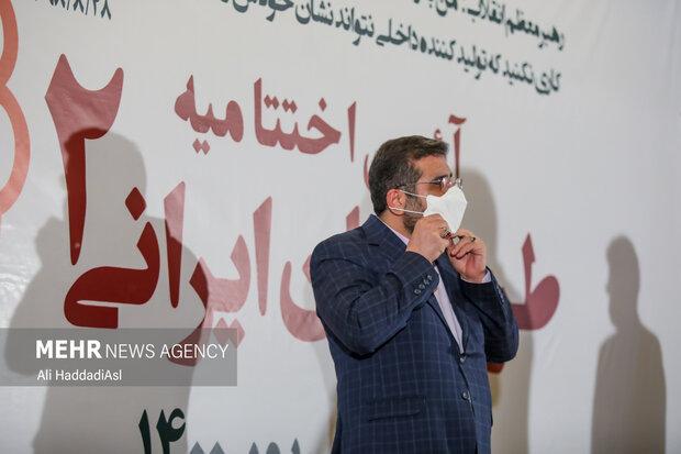محمد مهدی اسماعیلی وزیر فرهنگ و ارشاد اسلامی در آئین اختتامیه طرح نشان ایرانی حضور دارد