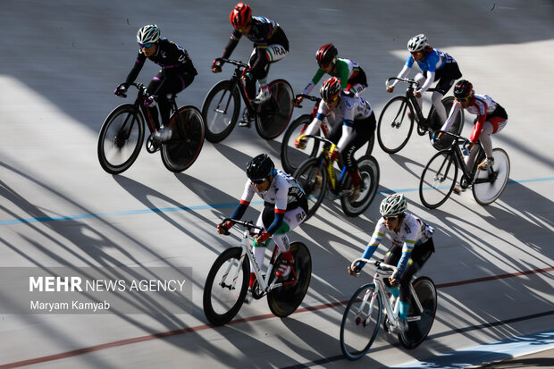 Iran women's track cycling competitions held in Tehran