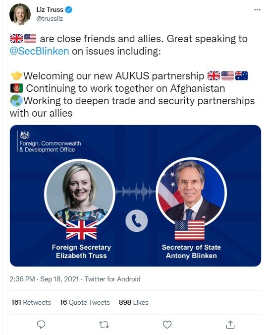 وزرای خارجه انگلیس و آمریکا درباره افغانستان گفتگو کردند