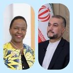 وزيرة خارجية تنزانيا تهنئ أمير عبد اللهيان لمنصبه الجديد
