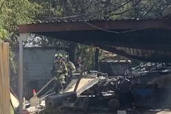 سقوط هواپیمای نظامی در تگزاس آمریکا/ منازل مسکونی خسارت دیدند