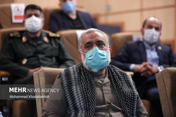 سردار محمدرضا نقدی در در مراسم تکریم و معارفه رییس جدید دانشگاه عالی دفاع ملی حضور دارد