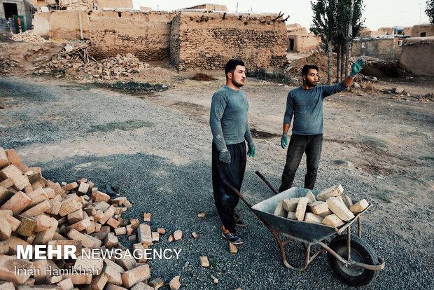 اردوی جهادی در روستای حسن ابدال