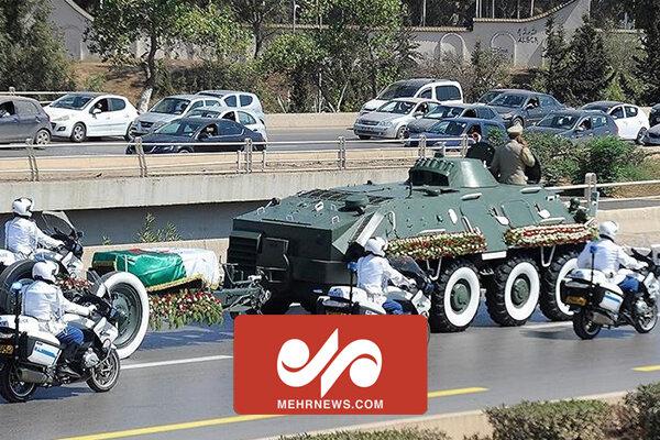 مراسم خاکسپاری بوتفلیقه رئیسجمهور سابق الجزایر