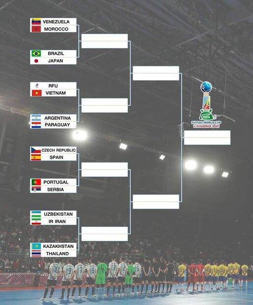 احتمال تکرار فینال دوره گذشته جام جهانی فوتسال در مرحله یک چهارم