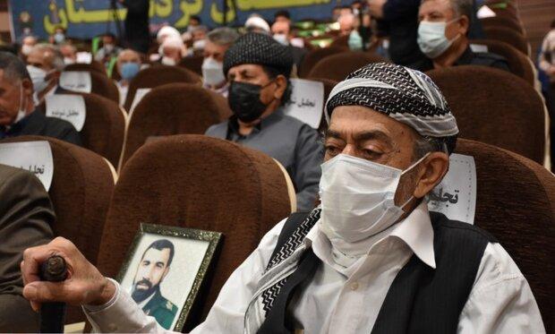 پیشکسوتان هشت سال دفاع مقدس در کردستان تجلیل شدند