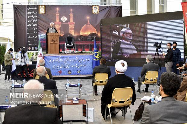 حمیدرضا ارباب سلیمانی مشاور وزیر فرهنگ در امور فرهنگی و دینی در افتتاح بزرگترین موکب احسان حسینی علیه السلام به نیابت از شهدای واقعه کربلا  سخنرانی میکند
