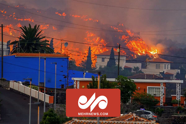 Lava from erupting volcano destroys homes in Canary Islands