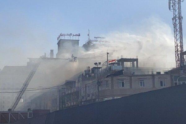 آتش سوزی در هتلی در کربلا