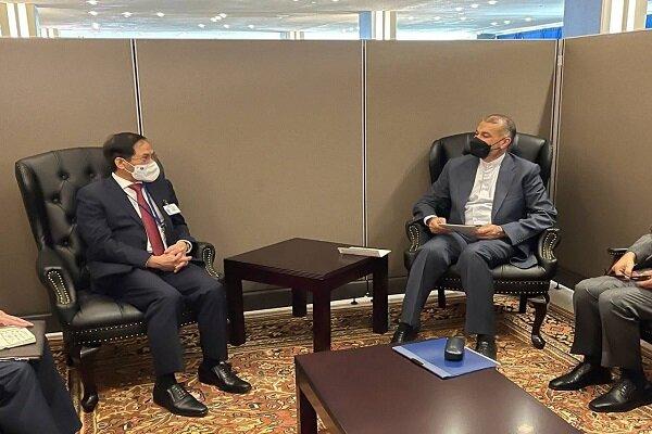 Iranian, Vietnamese FMs review bilateral relations