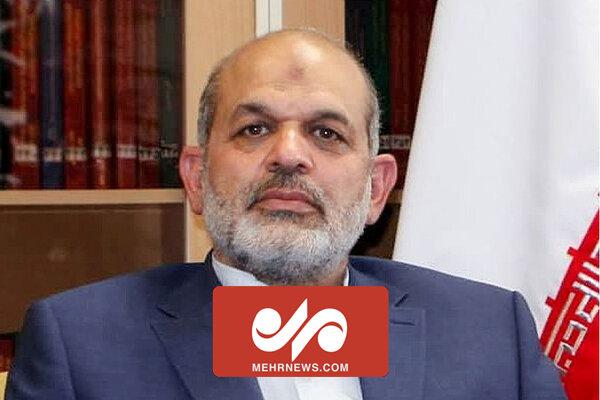 صحبت های وزیر کشور در پایانه مرزی مهران
