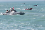 IRGC maritime parade in Persian Gulf waters