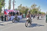 مراسم رژه موتورسوران نیروهای مسلح در البرز برگزار شد
