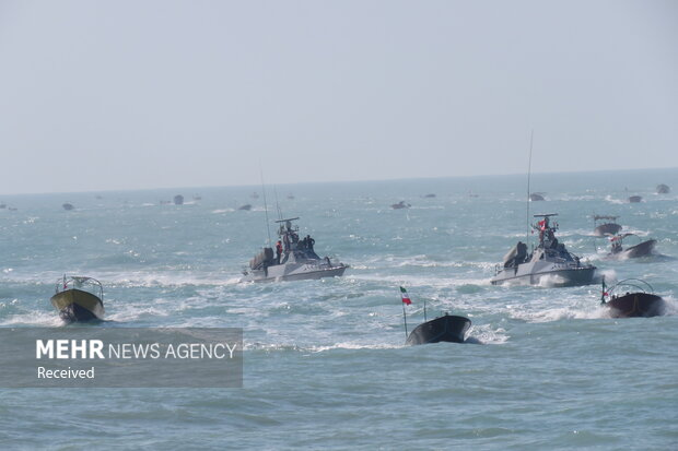 Maritime authority parade in Persian Gulf waters