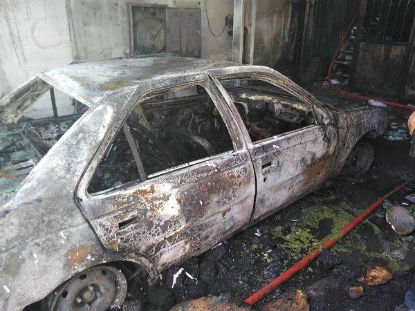 3897796 - آتش سوزی یک کارگاه در خیابان قزوین