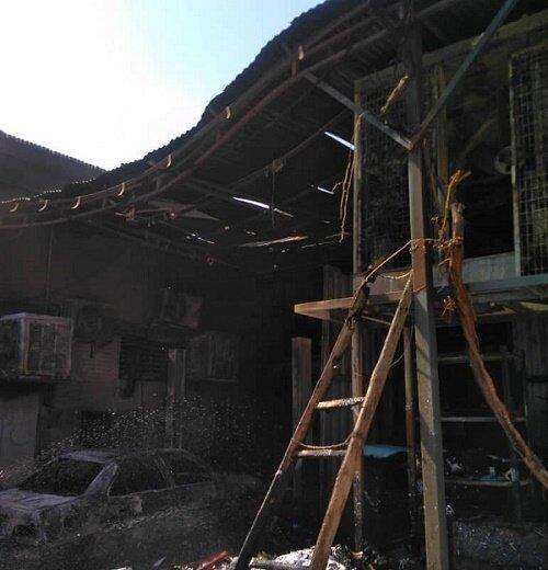 3897798 - آتش سوزی یک کارگاه در خیابان قزوین