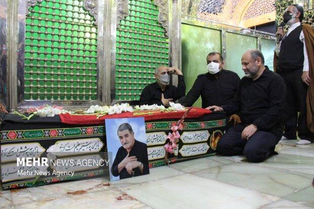 مراسم تشییع پیکر استاد فخر موسوی در آستانه اشرفیه