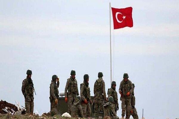 جزئیاتی از پایگاه زلیکان ارتش ترکیه در ناحیه بعشیقه در شرق موصل