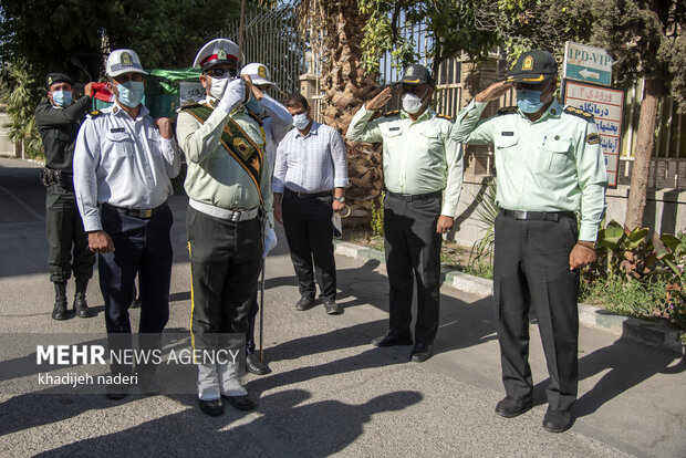 مراسم تشییع پیکر علی لندی - اصفهان