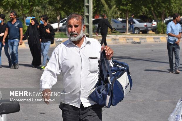ازدحام زائران اربعین در مرز شلمچه