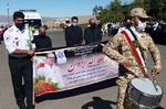 مراسم تشییع پیکر سومین شهید مدافع سلامت اورژانس آذربایجانشرقی