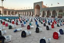 توزیع ۴۵۰۰ بسته معیشتی و لوازم التحریر در کرمان