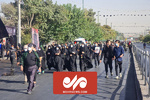 پیاده روی دلدادگان اربعین حسینی در تهران