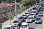حرکت کاروان خودرویی جوانان عزادار حسینی در محله های رشت