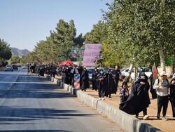 راهپیمایی «جاماندگان اربعین» در مسیر شماره یک گلستان برگزار شد
