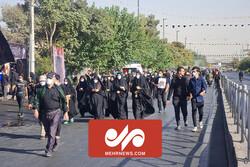 Tahran'da Erbain Yürüyüşü merasimi