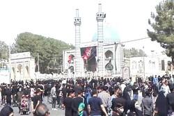 پیادهروی با شکوه مردم کاشمر در اربعین حسینی