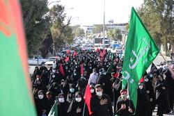 مراسم پیاده روی جاماندگان اربعین در کرمانشاه برگزار شد