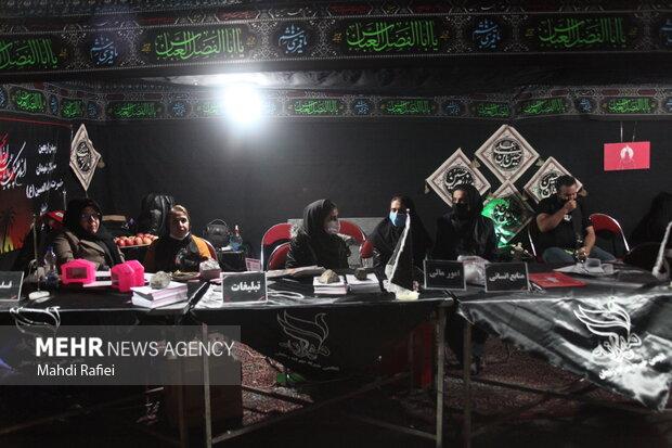 مراسم عزاداری شب اربعین در مزار شهدای گمنام زنجان