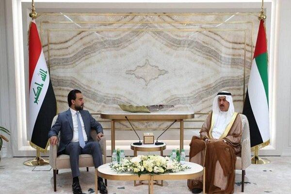 دیدار رئیس پارلمان عراق با مقام اماراتی