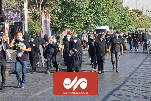 Tahran'da Erbain yürüyüşü etkinliği