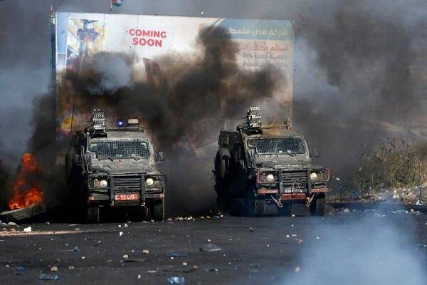 درگیری های شدید در نابلس/ ۲ نظامی صهیونیست زخمی شدند
