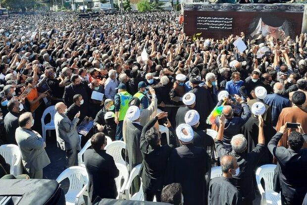 مراسم تشییع پیکر پاک علامه حسنزاده آملی