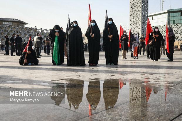 مراسم راهپیمایی جاماندگان اربعین حسینی با حضور مردم صبح دوشنبه ۵ شهریور ۱۴۰۰ از میدان امام حسین (ع)  برگزار شد