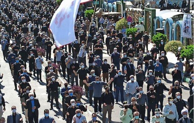 عزاداری اربعین امام حسین در دیار میرزا/ جاماندگان پیاده روی کردند