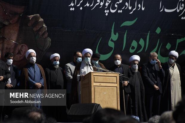 تشییع پیکر مطهر علامه حسن حسنزاده آملی