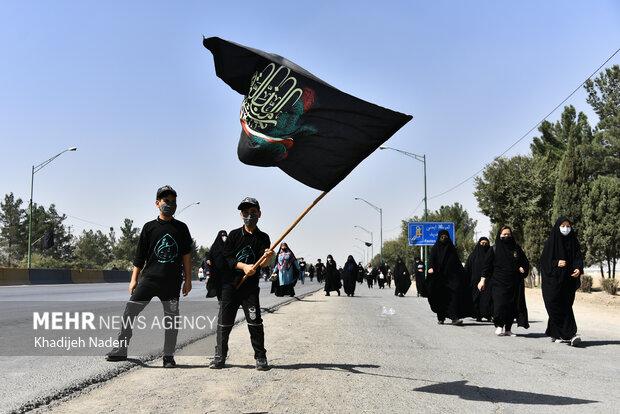 راهپیمایی جاماندگان اربعین در اصفهان